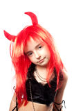 Devil girl. Devils carnival  costume. Royalty Free Stock Photos