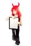 Devil girl. Devils carnival  costume. Royalty Free Stock Image