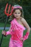 Devil Girl in Pink Royalty Free Stock Photography