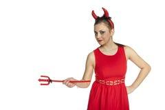 Devil Girl Royalty Free Stock Photos