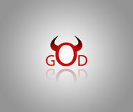 Devil and God Royalty Free Stock Photo