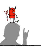 Devil & hand sign Royalty Free Stock Photo