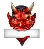 Devil Head Blank Sign Stock Image