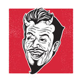 Devil head laughing Stock Image