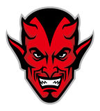 Devil head mascot Stock Photography