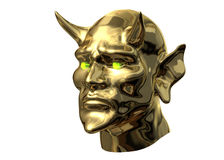 Devil Head Side Royalty Free Stock Images