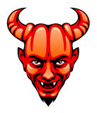 Devil head. On a white background Stock Image