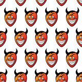 Devil heads. Seamless pattern. Seamless pattern made of funny cartoon devil heads. Vector format added Royalty Free Stock Image