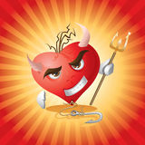 Devil Heart. Shape vector red Stock Photo