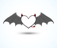 Devil heart background Stock Images