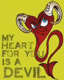 Devil heart illustration Stock Photos
