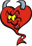 Devil heart Stock Photo