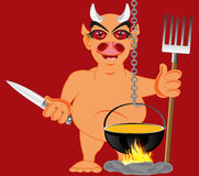 Devil in hell Royalty Free Stock Image
