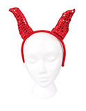 Devil Horns Headband with a Clipping Path Stock Image