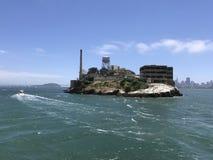 Devil Island in Sanfransisco CA. Prison devil island beautiful day in the bay Stock Images