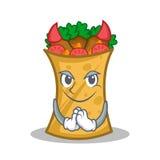 Devil kebab wrap character cartoon. Vector illustration royalty free illustration