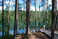 Devil Lake, Latvia Stock Images