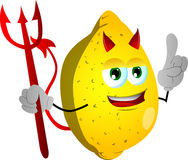 Devil lemon with attitude Royalty Free Stock Photo
