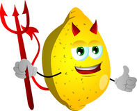Devil lemon with thumb up Stock Photography