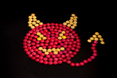 Devil made from candy Royalty Free Stock Photo