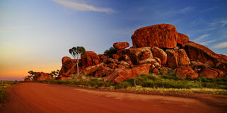 Devil marbles. Picture taken in Northern territory in 2010 stock photography