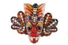 Devil mask. Traditional mask of the devil with snakes called Naga Raksha, from Sri Lanka Stock Photography