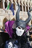 Devil mask with horns, Venice, Italy, Europe Royalty Free Stock Photo