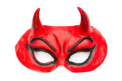 Devil mask isolated on the white Stock Photography