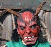 Devil mask. South Bohemia, Czech Republic Royalty Free Stock Photography