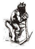 Devil miner. Collier coal miner sinker pitman Royalty Free Stock Image