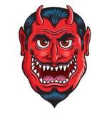 Devil Monster Face Royalty Free Stock Images