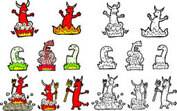 Devil and monsters Royalty Free Stock Photos