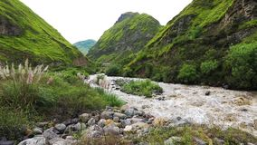 Devil Nose river Alausi Ecuador daytime. Devil Nose river Alausi Ecuador stock video footage