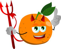 Devil orange with attitude Royalty Free Stock Photos