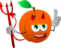 Devil peach with attitude Stock Photography