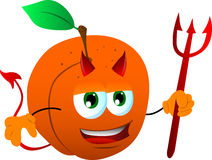 Devil peach Stock Images