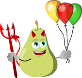 Devil pear with balloons Royalty Free Stock Image