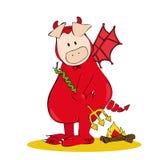 Devil Pig. vector illustration