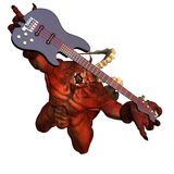 Devil Playing Guitar. Satanic Royalty Free Stock Photo
