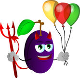 Devil plum with balloons Royalty Free Stock Photography