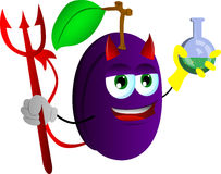 Devil plum holds beaker of chemicals Stock Photography