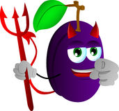 Devil plum pointing at viewer Stock Photo