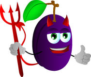 Devil plum with thumb up Royalty Free Stock Images