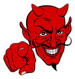 Devil Pointing Cartoon Character Royalty Free Stock Photography