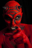 Devil pointing at you. Royalty Free Stock Photos