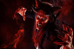 Devil portrait. Portrait of a devil with horns. Fantasy. Art project