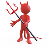 Devil posing threatening with his trident Stock Image