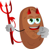 Devil potato pointing at viewer Royalty Free Stock Photo