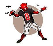 Devil Quarterback Royalty Free Stock Photography