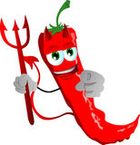 Devil red hot chili pepper pointing at viewer Stock Photography